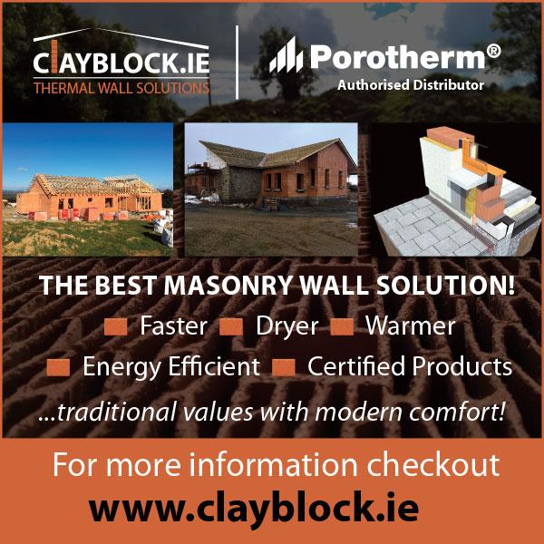 Clayblock Porotherm Poroton Ireland